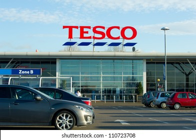 MANCHESTER-DEC 22: Tesco Store on Dec. 22, 2011 in Manchester(Oldham), United Kingdom, Great Britain, England, UK. Britain's biggest supermarket and biggest retailer in UK.