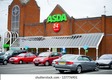 MANCHESTER-MAY 5: Asda Store on May. 5, 2013 in Manchester(Ashton-u nder-Lyne), United Kingdom, Great Britain, England, UK. Asda is the UK's second largest chain by market share after Tesco.