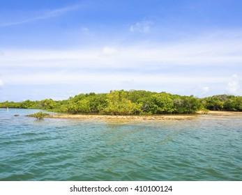 manda island beach in kenya near lamu