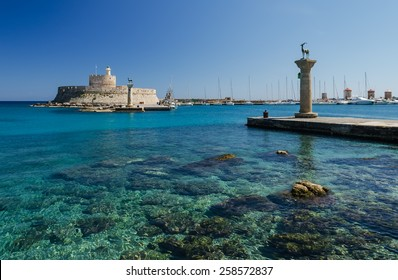 Mandaki port in Rhodes island Greece