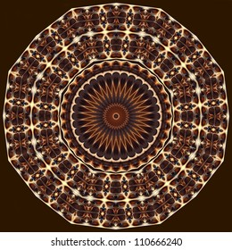 mandala created from fractals - a full-blown Flower of Life