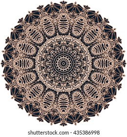 Mandala Mehndi Style. Ethnic oriental indian style. Mehndi henna design for textile.