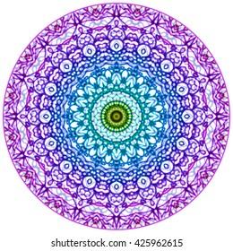 Mandala Mehndi Style. Ethnic seamless pattern in oriental indian style. Mehndi henna design for textile.