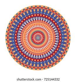 Mandala stylized pattern with floral motives. /Mandala Design