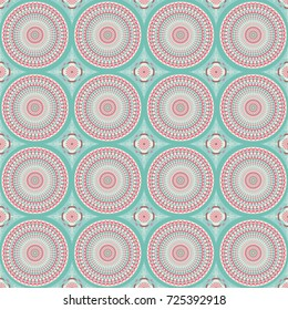 Mandala stylized pattern with floral motives./Mandala Design