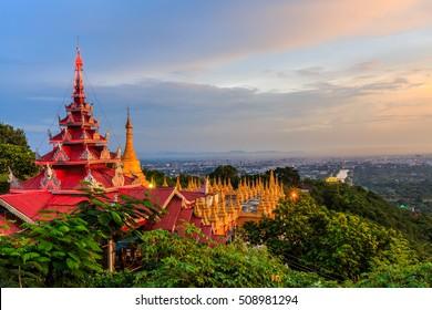 Mandalay Hill is a major pilgrimage site in Myanmar, Mandalay, Myanmar