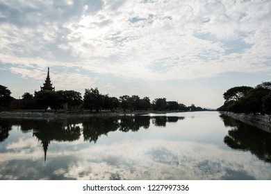 Mandalay, Myanmar - Apr 04 2017: Mandalay old king's palace