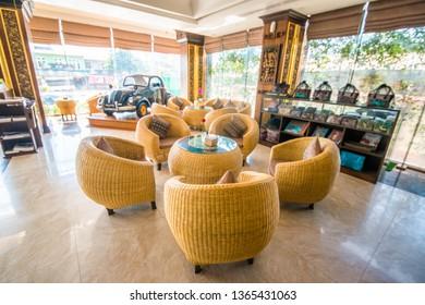 Mandalay, Myanmar - January, 19, 2019: Apex Hotel on the city.