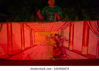 Mandalay, Myanmar - March 5 2015:  puppet drama is the traditional art of Myanmar.