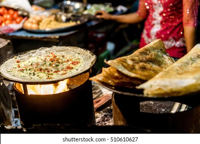 Mandalay, Myanmar - Night Market Food - Dosa