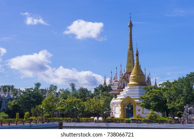 MANDALAY , MYANMAR - SEP 02 : Mahamuni Pagoda in Mandalay, Myanmar on September 02 2017. Mahamuni is a Buddhist temple and major pilgrimage site, located southwest of Mandalay