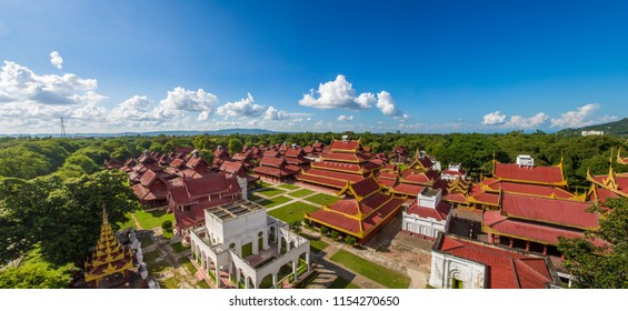Mandalay Palace (Aungmyaythazan) is the last royal palace of the last Burmese monarchy, Mandalay, Myanmar