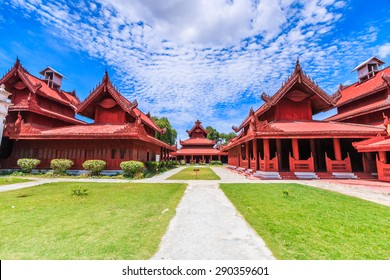 Mandalay palace at Mandalay city of Myanmar Burma