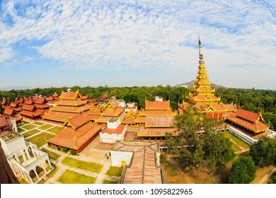 Mandalay Royal Palace view from the watch tower at Mandalay, Myanmar.