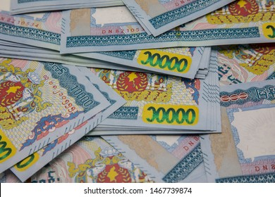 MANDALAY/MYANMAR : 02nd Aug, 2019 : Myanmar Kyats Banknot, Money, Kyat Curren in Myanmar.