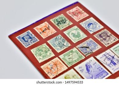 MANDALAY/MYANMAR(BURMA) - 29th July, 2019 : Different kind of Burma Stamps.
