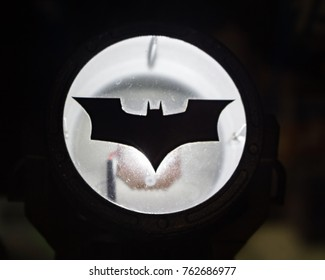 Mandaluyong City / Philippines -  01/16/2016: Toy Bat Signal