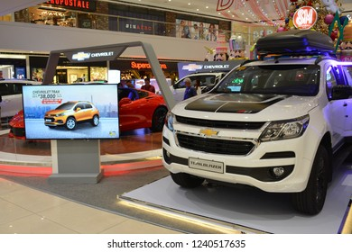 MANDALUYONG, PH - NOV. 22: Chevrolet Trailblazer sub urban vehicle on November 22, 2018 in Mandaluyong, Philippines. Chevrolet brand is a manufacturer of cars in USA.