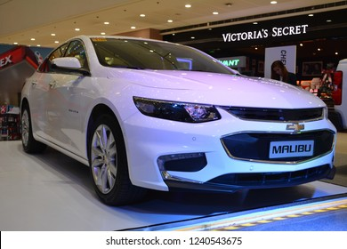 MANDALUYONG, PH - NOV. 22: Chevrolet Malibu on November 22, 2018 in Mandaluyong, Philippines. Chevrolet brand is a manufacturer of cars in USA.
