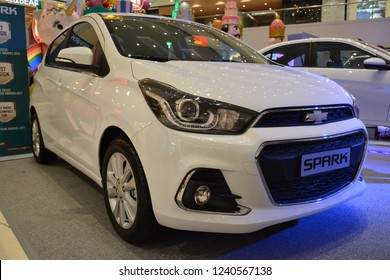MANDALUYONG, PH - NOV. 22: Chevrolet  Spark compact car on November 22, 2018 in Mandaluyong, Philippines. Chevrolet brand is a manufacturer of cars in USA.