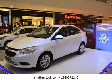 MANDALUYONG, PH - NOV. 22: Chevrolet Sail on November 22, 2018 in Mandaluyong, Philippines. Chevrolet brand is a manufacturer of cars in USA.