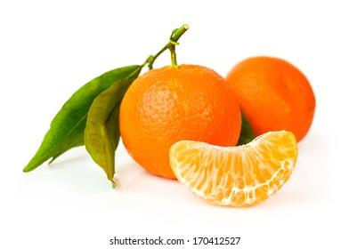 Mandarin isolated on a white background