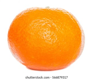 Mandarin orange isolated on white background.
