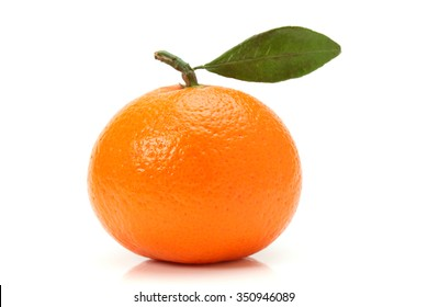 Mandarin, tangerine citrus fruit isolated on white background.