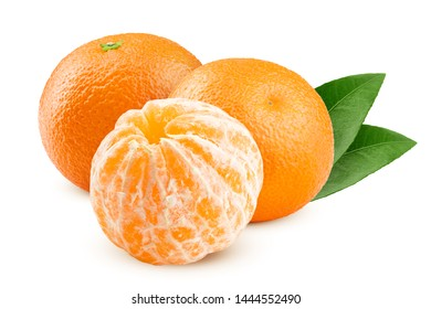 mandarin, tangerine, isolated on white background, clipping path, full depth of field