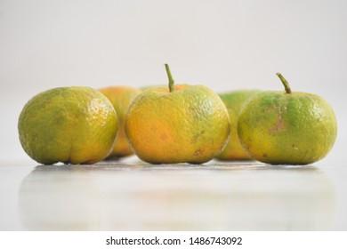 Mandarin, Tangerine, Orange, Clementine Fruit isolated on white background