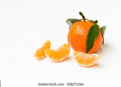 Mandarin - white background