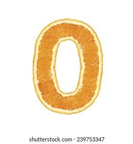 Mandarine alphabet (number 0)