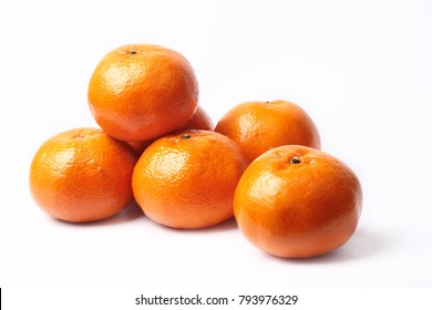 Mandarin-Honey Murcott oranges  on white background, Golden orange to celebrate the Chinese festival.