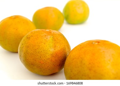 Mandarins in isolated whit background