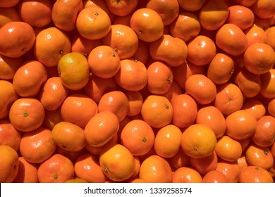 Mandarins in the market background