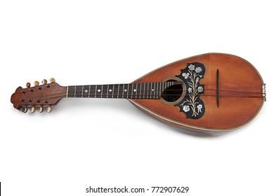 Mandolin on white background - Shutterstock ID 772907629