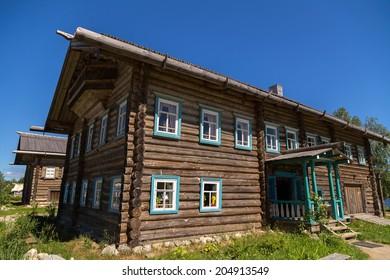 Mandrogi crafts village on the Svir rive. Russia