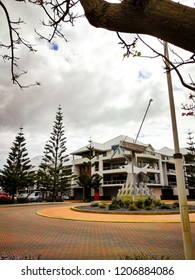 Mandurah, Australia - 3 September 2017 : Mandurah Ocean Marina buildings and attractions.