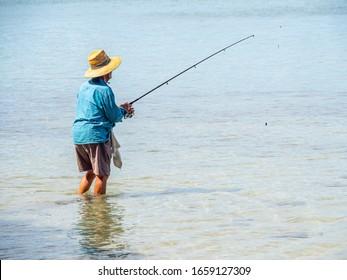 Mandurah, WA / Australia - 02/07/2020. The Mandurah foreshore is popular with tourists having restaurants, fish & chips, boating, fishing, entertainment and seagulls.