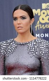 Mandy Moore at the 2018 MTV Movie And TV Awards held at the Barker Hangar in Santa Monica, USA on June 16, 2018.