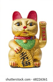 The Maneki Neki is an ancient cultural icon from japan and popular in many asian cultures. The welcoming cat supposedly brings great wealth and fortune to its owner.