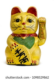 "The Maneki- Neko Cat is traditional cultural statue from Japan that is believed to bring great wealth and fortune to it's owner. Translation: ""Come in, please, you are welcome."""
