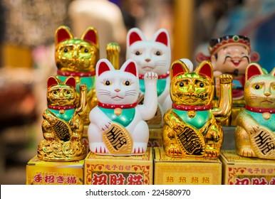 Maneki Neko Japan Lucky Cats.