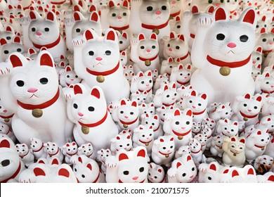 Maneki neko also known as chinese fortune cat