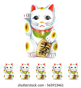 Manekineko : Manekineko is traditional japanese goods. People say that it call good luck if there is it in your house.
