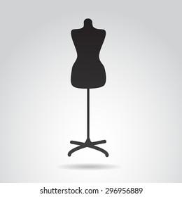 Manequin icon isolated on white background.