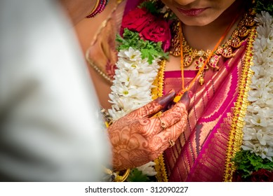 Mangal Sutra or Thaali of an Indian Hindu Bride
