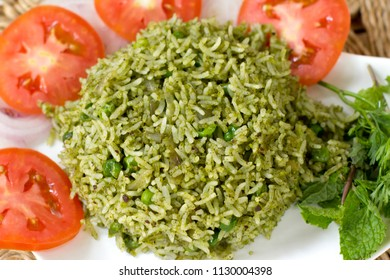 Mangalorean green rice is a simple, flavourful and delicious one pot rice dish.
