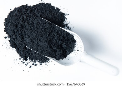 Manganese di oxide on white background