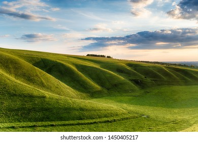 The Manger at Uffington in Oxforshire, it is on the Ridgeway long distance walking route and forms part of the Berkshire Downs